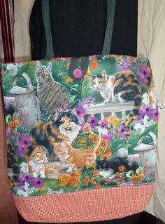 Beautiful Garden Cats Tote Bag  Sale by SimJaTa on Etsy