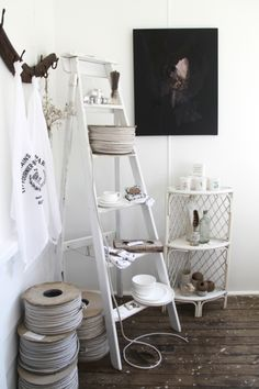 ladder attached to wall for guest bedroom?