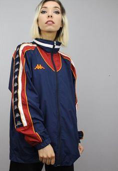 Vintage+Kappa+Windbreaker+Jacket Reebok, Streetwear, Asos, Urban Street Style, Windbreaker Jacket, Nike, Kappa, Adidas Jacket, Style Fashion