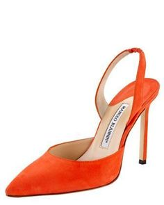 Carolyne Suede High-Heel Halter by Manolo Blahnik at Bergdorf Goodman. Put some color into your life! Remember why be ordinary when you can be extraordinary! www.schooloffluant.com