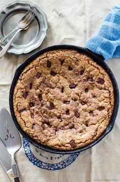 Chocolate Almond Skillet Cookie