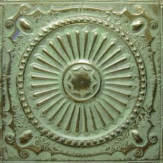 American Tin Ceiling Tiles: Pattern #26 in Gold Patina