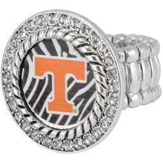 Tennessee Volunteers Zebra Twisted Rope Stretch Ring
