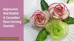 Red Radish Rose Carving Garnish - How To Make Radish Flower