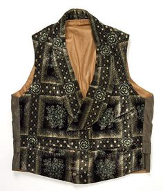 (c. 1860) American waistcoat, made of silk and cotton