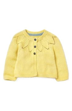 Our supersoft cardigan will keep baby warm and comfortable all day. A range of pretty shades will add a pop of colour to every outfit, and we've also added link stitch detailing around the collar, just for fun. It's fully machine washable, too. Baby Outfits, 1950s Outfits, Kids Outfits, Vintage Outfits, Toddler Cardigan, Baby Cardigan, Floaty Dress, Yellow Cardigan, Retro Girls