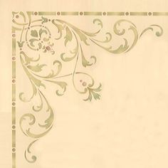 Decorate and emphasize areas of a grand ceiling above the dining room, living room, or entry way with our Hampton Corner Ceiling Stencils. Use the Hampton Ceiling Stencil Set for a complete and cohesi Stencil Wall Art, Wall Stencil Patterns, Damask Stencil, Stencil Painting, Stencil Designs, Mural Art, Wall Murals, Stenciling, Rosemaling Pattern