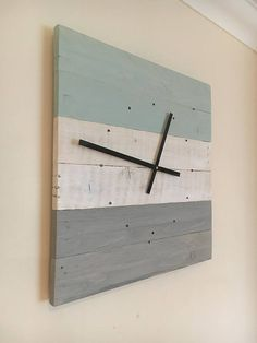 Wall Clock Wooden Wall Clock Reclaimed Wood Wall Clock Wall