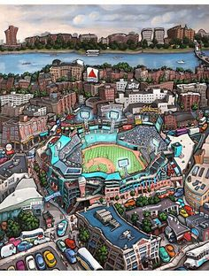 """""""Fenway Park - Boston"""" Best City in the World Boston Strong, In Boston, Boston Red Sox, Boston Bruins, Baseball Park, Red Sox Baseball, Boston Baseball, Baseball Signs, Pro Baseball"""