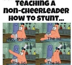 Teaching non cheerleaders to stunt