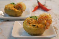 Mini batata recheada com camarão e catupiry   Receitas e Temperos