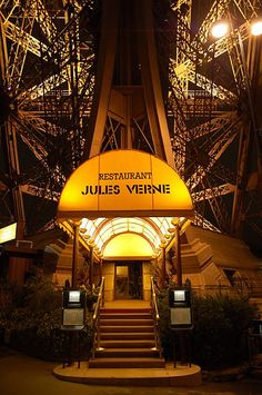 Jules Verne in Paris, France. The food is very good, but the views are even better. Lovely dining experience.