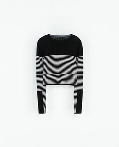 ZARA - WOMAN - COMBINED PLAIN AND STRIPED SWEATER