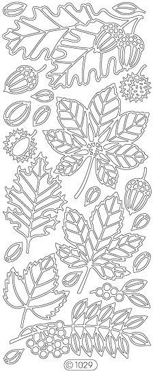 Starform Peel-Off Sticker -1029B- Fall Leaves - Black