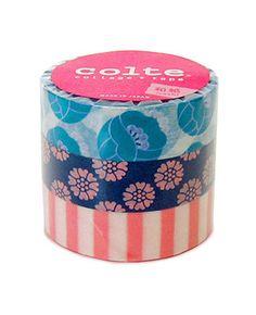 Colte Washi Masking Tape - Tulip Blue Green - Set 3