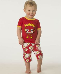 Take a look at the Red & Yellow 'Flash' Pajama Set - Toddler on #zulily today!