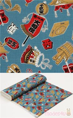 blue dobby fabric with items related to sumo wrestling such as belts, dohyo etc., Material: cotton, Fabric Type: strong dobby fabric, Pattern Repeat: ca. Kawaii, Dobby Fabric, Sumo Wrestler, Modes4u, Japanese Fabric, Cosmos, Cotton Fabric, Material, Cute