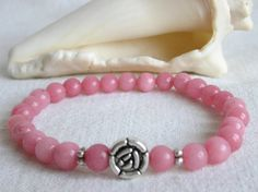 Pink Morganite Pink Beryl Stretch Bracelet / by CloudsOfFantasy, $18.00