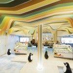 Cool Norwegian Ice Cream Shop Interior Design by Scenario Interior Architects