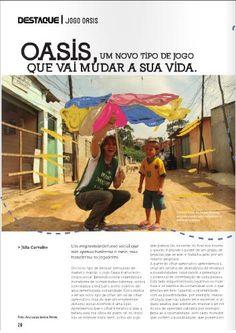 Matéria sobre o Jogo Oasis (página 20), pela estudante de Jornalismo Júlia Carvalho, que participou do Oasis Sousa Ramos.