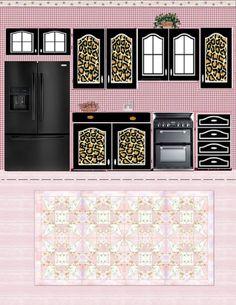 Free Printable Dollhouse Kitchen | Via Julieta Sandoval