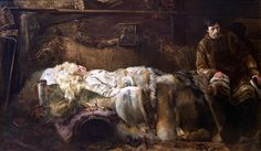 "Jacek Malczewski, ""Death of Ellenai"", 1883, oil on canvas, 212 × 370 cm, The National Museum in Kraków"