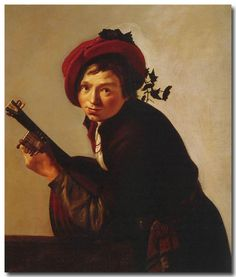 Jan van Bijlert (1598/98-1671) - Jeune Homme jouant du Luth, vers 1625, huile sur toile, 98 x 83cm, Thyssen-Bornemisza Museum, Madrid