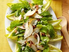 This family-friendly Endive and Pear Salad has a sweet raspberry dressing that everyone will love.