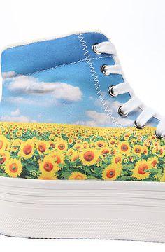 Jeffrey Campbell  The HOMG Sunflower Platform Sneaker