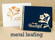 Video: Metal leafing and stamping on handmade cards