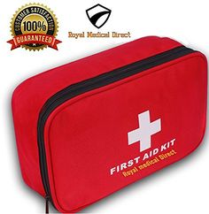 Camping First Aid Kits - Royal Medical Direct 180Piece First Aid Kit  HospitalGrade Emergency Medical Supplies for Traveling Hiking Camping Home or Auto  Portable Lightweight and Travel Ready ** Visit the image link more details.