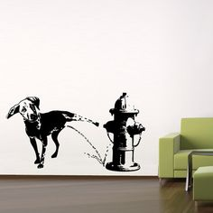 Dog Wall Decal 47x24  by Labyrinth Barcelona