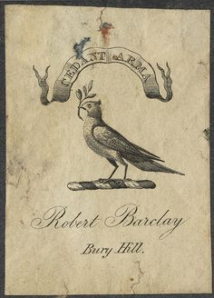 Bookplate: Robert Barclay of Bury Hill by peacay
