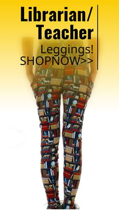 #leggings perfect design for school teacher or librarian! sponsored