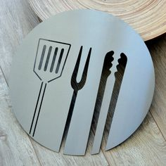 BBQ stainless steel wall art on Etsy, $136.33 AUD
