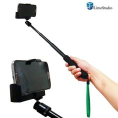 """LimoStudio 21"""" Self Portrait Camera Monopod Extender and Monopod Stand Holder for I phone 3g/4/5/5s and I pad, AGG1217 LimoStudio http://www.amazon.com/dp/B00GDN2A74/ref=cm_sw_r_pi_dp_adNFub0N77HG9"""