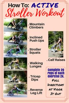 If you're wondering how to do an amazing full body workout active stroller exercise search no further! This is a wonderful way to exercise with baby. This site details how to get a great fitness routine in as a stroller workout! http://healthyquickly.com