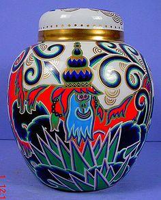 Outstanding Germany Covered Vase Rosenthal Kurt Wendler Art Deco Porcelain 1921 #ArtDeco #RosenthalKurtWendler