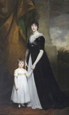 1800 - Lady Caroline Villiers (1774–1835), Lady Paget, later Duchess of Argyll, with her eldest son Henry (1797–1869), later 2nd Marquess of Anglesey by John Hoppner (Plas Newydd, Llanfairpwll - Isle of Anglesey