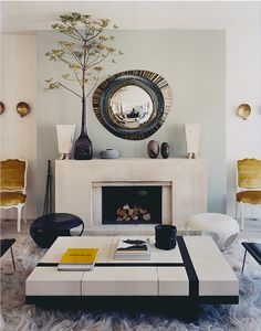 Modern but chic living room