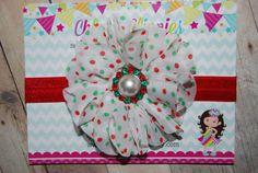 Christmas Headband Chiffon Flower Headband by ChloesClippies