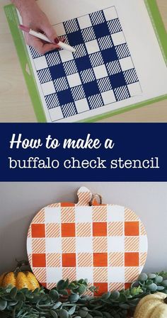 How to make a buffalo check stencil with vinyl and your cricut.