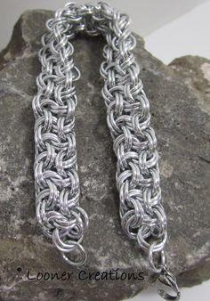 Anodized aluminum Vipera Berus Doubled bracelet
