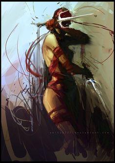 Elektra by Aditya Ikranegara Comic Book Characters, Marvel Characters, Comic Character, Comic Books Art, Comic Art, Epic Characters, Book Art, Marvel Comics Art, Marvel Heroes
