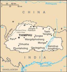 Bhutan - Wikipedia A map of Bhutan showing its borders with Tibet and India as of Country Information, Nepal Kathmandu, Arunachal Pradesh, India Tour, Beautiful Places To Visit, Cartography, Tibet, China, Viajes