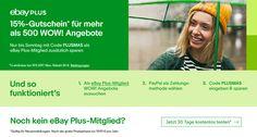 Das eBay Plus WOW! Wochenende - mit 15 Prozent Rabatt schon vor der Cyber Week sparen - http://aaja.de/2ioHL7o
