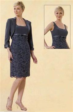 Straps Knee-length Coat/ Jacket Sheath Mother's #Dress Style Code: 00159 $109