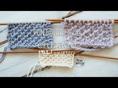 Punto Brioche Cruzado: más fácil de tejer que el original - YouTube Knitting Help, Knitting Videos, Crochet Videos, Knitting Stitches, Cute Hats, Toot, Arm Warmers, Crochet Projects, Tatting