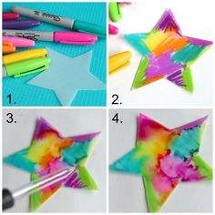 Sharpie and Alcohol Ornaments is part of Christmas crafts For Teens - Create gorgeous tiedyed Christmas tree ornaments with this fabulous Sharpie and alcohol techique It's a beautiful art technique and a science activity in one Diy Christmas Ornaments, Holiday Crafts, Holiday Fun, Christmas Gifts, Ornaments Ideas, Kids Chrismas Crafts, Kids Christmas Cards, Cool Crafts For Kids, Christmas Decorations Diy For Teens