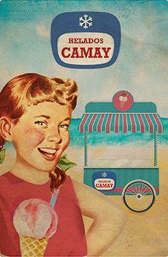 Cartel Helados Camy años 60 – Anuncios vintage Nestlé